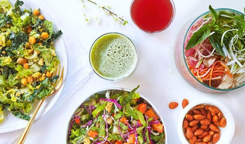 Urban Remedy offers plant-based meal options, including some co-created with model Kate Upton
