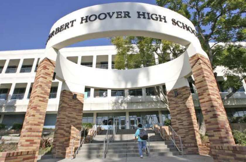The Hoover High School campus.