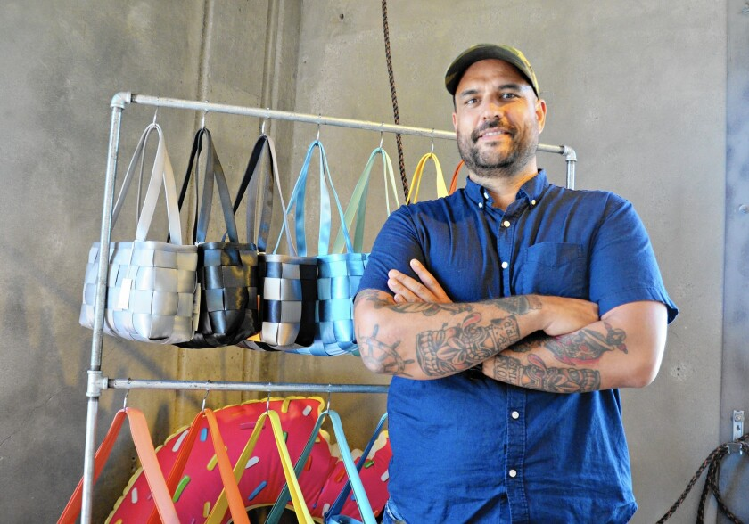 Dana Harvey, owner of Harveys, founded the Orange County-based company, which produces the original seat belt handbags, in 1997 after using leftover seat belts from a car project to make a purse for his wife.
