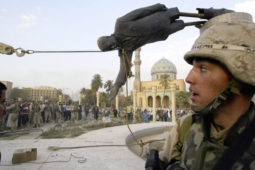 The toppling of Saddam Hussein didn't bring peace to Iraq.
