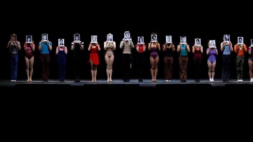"""The cast of """"A Chorus Line."""""""