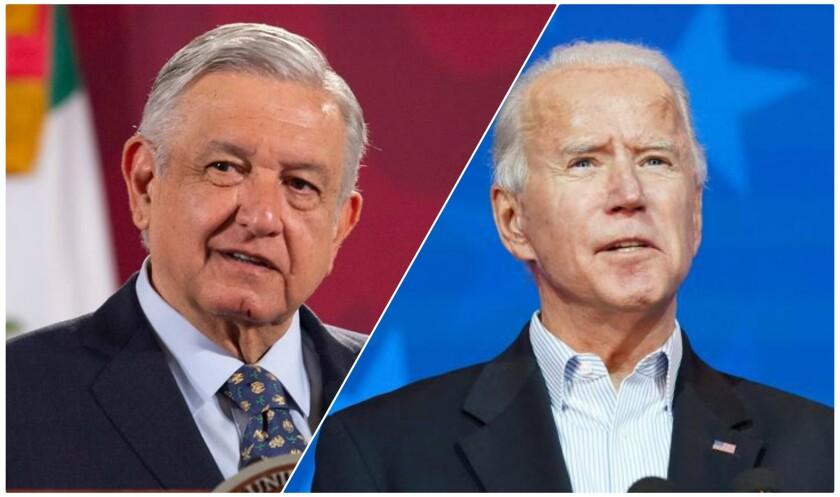 Andrés Manuel López Obrador (i), presidente de México y Joe Biden, mandatario electo de EE.UU.