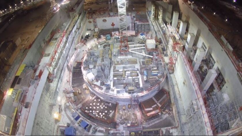 ITER nuclear fusion facility construction