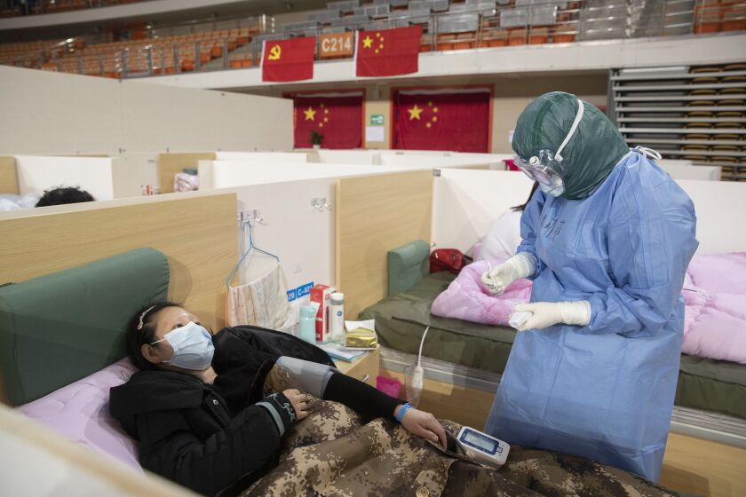Many patients in Wuhan City have been treated in makeshift hospitals during China's coronavirus outbreak.