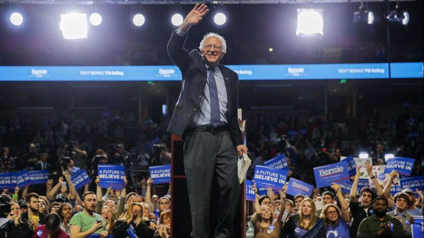 Sen. Bernie Sanders last week at a rally for his 2020 presidential campaign in Greenville, S.C.
