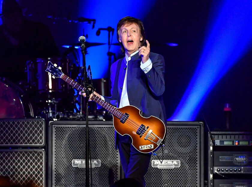 Paul McCartney performs on opening night of his 2016 One on One tour in Fresno, Calif.