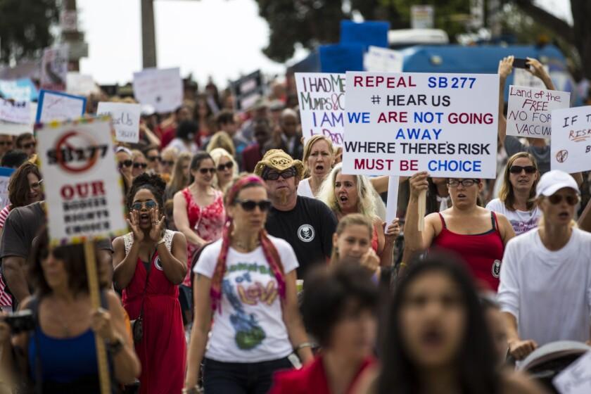 Anti-vaccination march