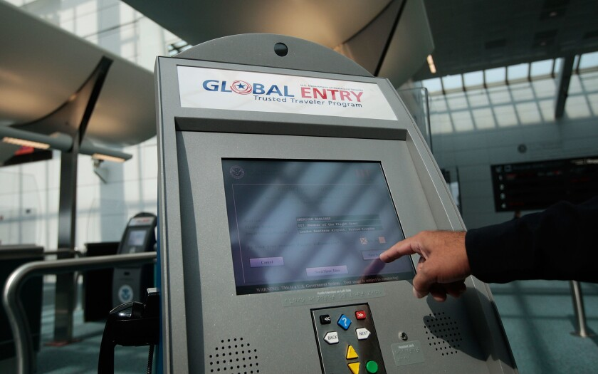 The Global Entry program allows travelers to get through U.S. customs more quickly when returning from abroad.
