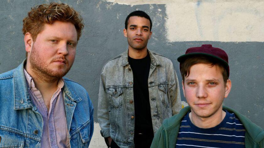 LOS ANGELES, CA-FEBRUARY 22, 2018: left to right-Andrew MacKelvie, Pascal Stevenson, and Sean Solom