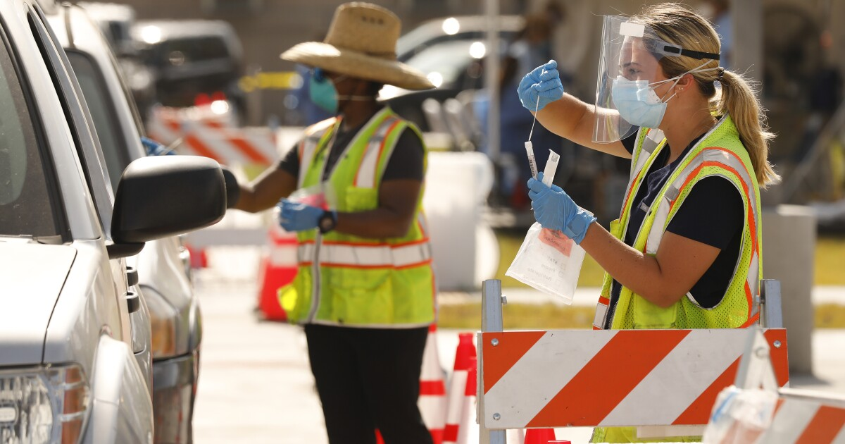 L.A. County records 3,322 new coronavirus cases, 18 deaths ...