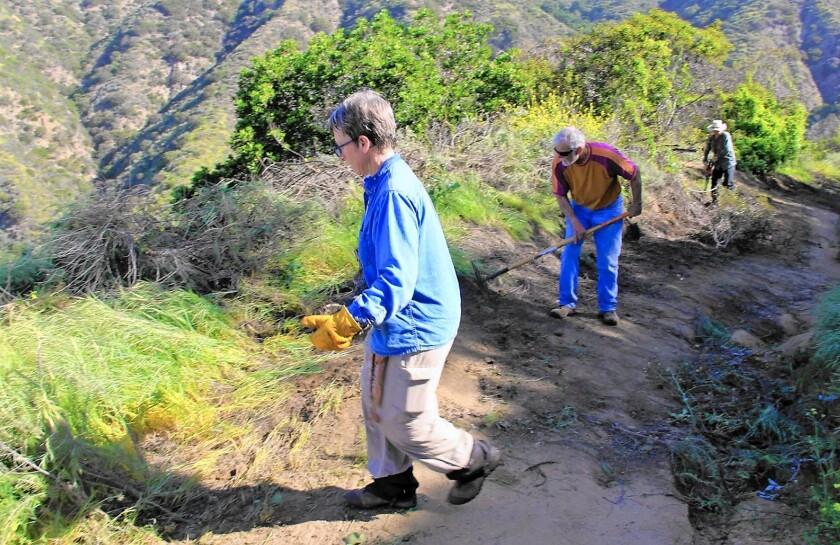 Volunteers clean up Brand Park trail