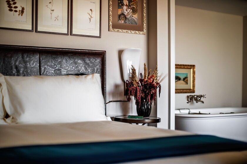 The accommodations at NoMad Las Vegas are reminiscent of a Parisian apartment.