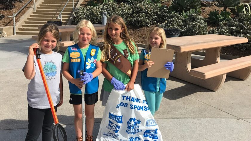 Solana Beach Girl Scouts celebrate 100th anniversary by beautifying
