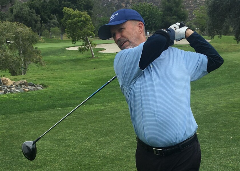 Clay Phillips, a retired state parks superintendent from La Mesa, whose golf adventure will benefit clean water charities.