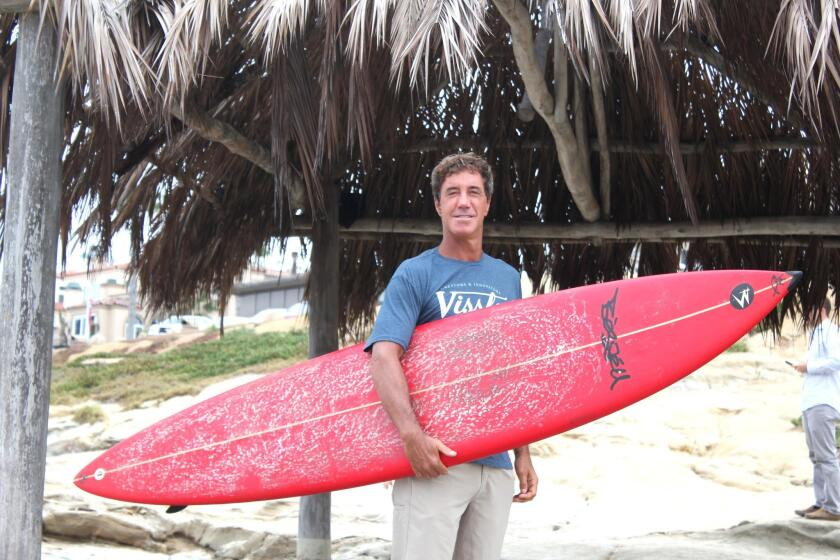 Dividing his life between Fiji and La Jolla, surfer Jon Roseman said he catches waves locally at WindanSea in La Jolla whenever possible.