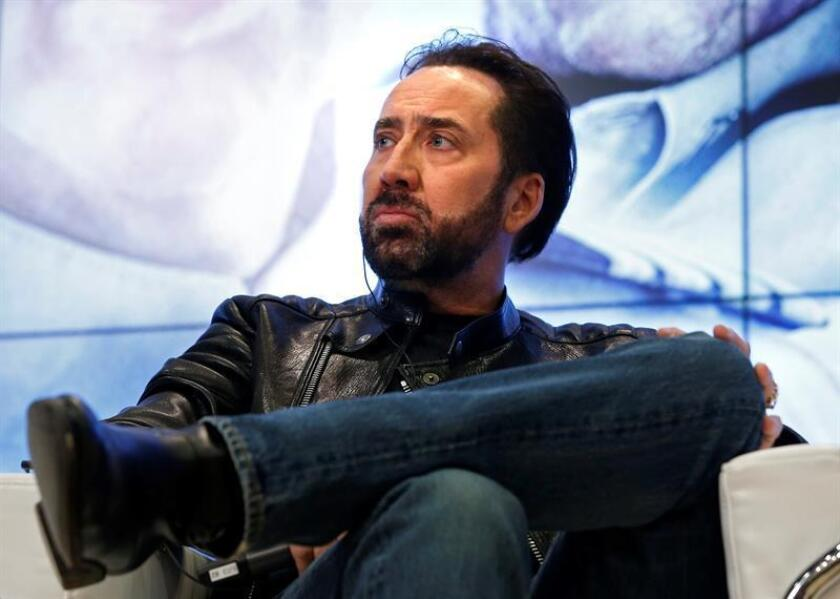 El actor estadounidense Nicolas Cage durante una conferencia de prensa. EFE/Archivo