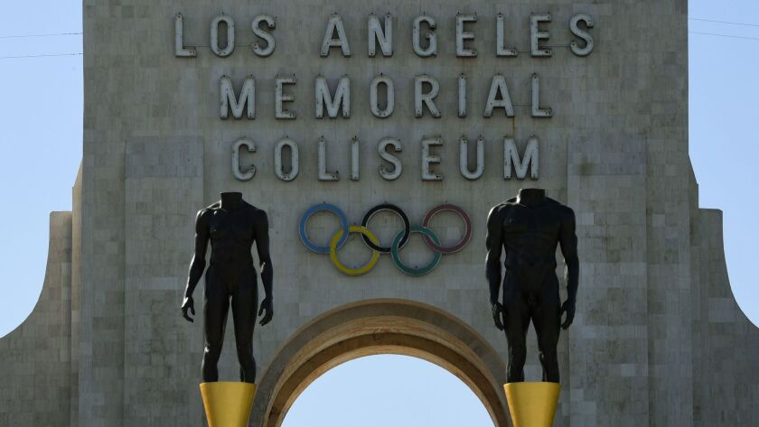Los Angeles is competing with Paris for the 2024 Games, although the International Olympic Committee may offer the 2028 Summer Olympics to one of the cities.