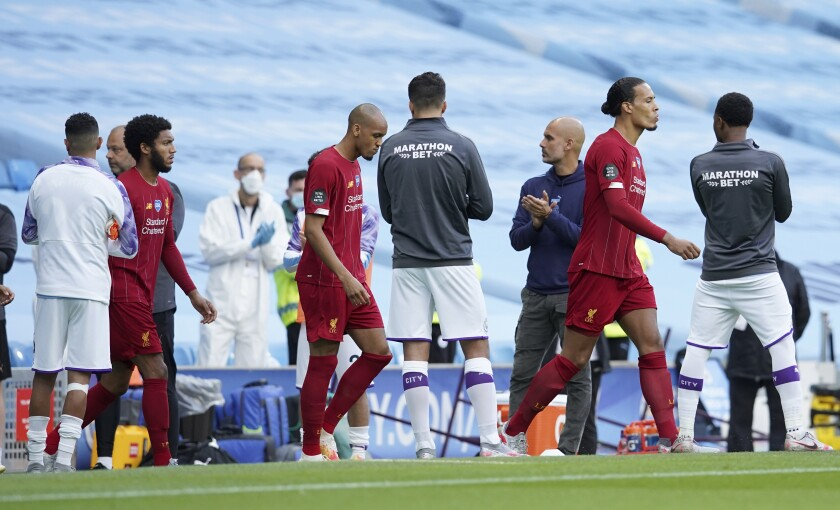 Liverpool gets guard of honor from dethroned champ Man City - The ...