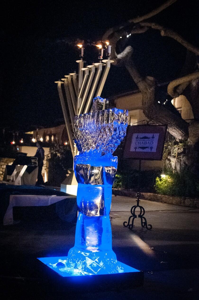 A Menorah lighting will be held at 6 p.m.