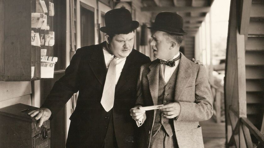 Oliver Laurel and Stan Hardy.