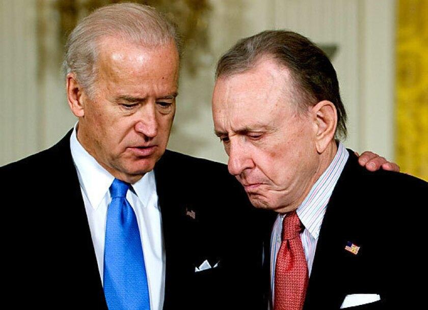 Joe Biden with Republican Sen. Arlen Specter of Pennsylvania in 2009.