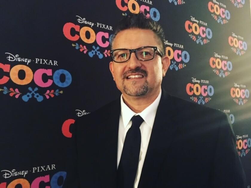 """Lalo Alcaraz at the premiere of """"Coco"""" in Mexico City"""