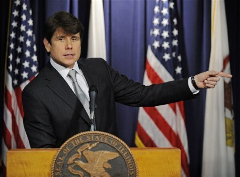 Illinois Gov. Rod Blagojevich makes a statement  Friday,  Jan. 9, 2009 in Chicago, after he was impeached by the Illinois House on a wide array of offenses including criminal corruption and wasting taxpayers money. The two term Democrat becomes the first governor in the history of Illinois to be im
