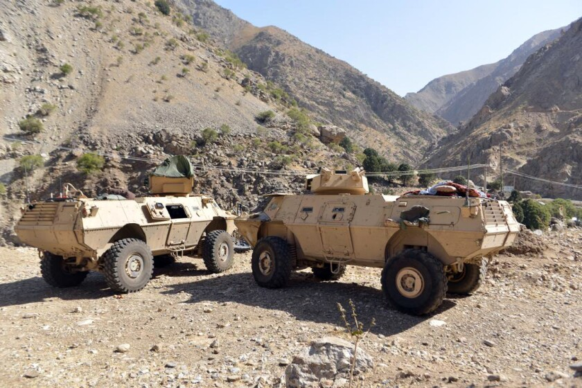 Armored vehicles are seen in Panjshir Valley, north of Kabul