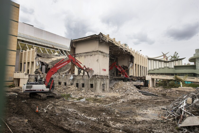 LACMA buildings being demolished