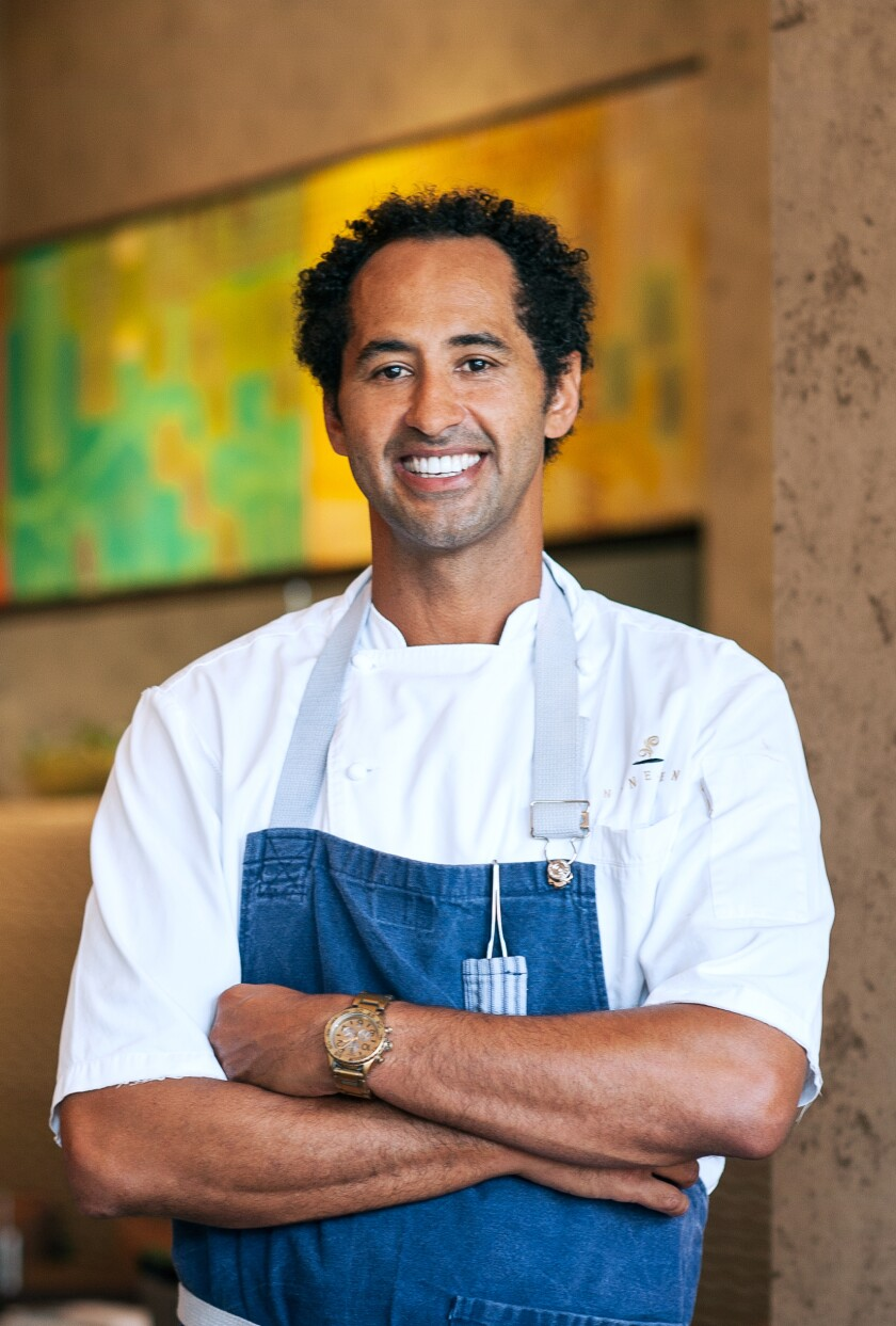"""Jason Knibb, executive chef at Nine-Ten in La Jolla, said the invitation to participate in """"United We Cook"""" """"provided us with a glimmer of hope."""""""