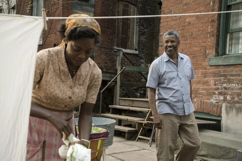 "Denzel Washington and Viola Davis in a scene from ""Fences,"" directed by Washington."