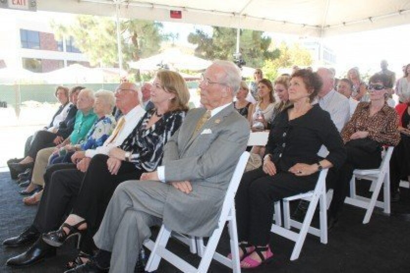 More than 100 donors, doctors and healthcare professionals attended a Sept. 4 event to celebrate completion of the Prebys Cardiovascular Institute's exterior.