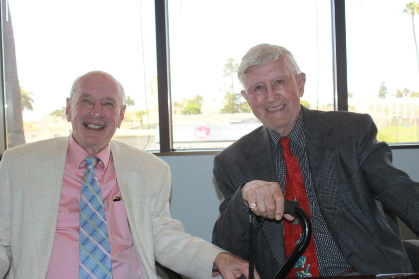 Longtime friends Zeke Hlavacek and almost 100-year-old Frank Tabor