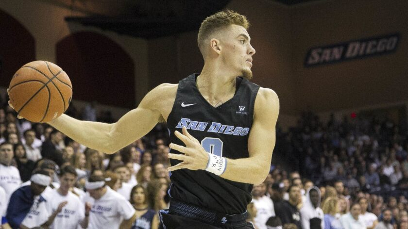 Senior forward Isaiah Pineiro, who led USD in scoring (15.7 points) and rebounding (6.2) last season, was selected to the 10-player WCC Preseason Team.