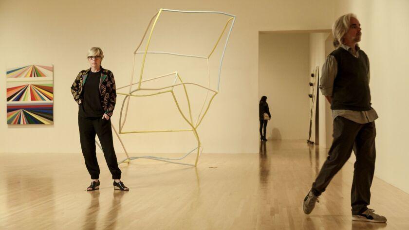 LOS ANGELES - CA - JANUARY 04, 2016 - MOCA's permanent collection chief curator Helen Molesworth sta