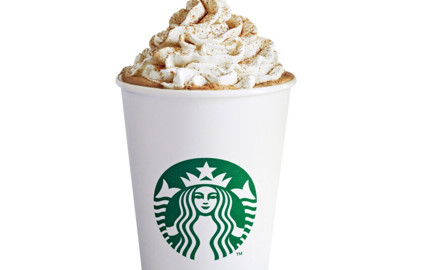 The Pumpkin Spice Latte from Starbucks.