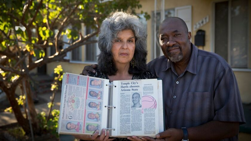 Margaret Fernandez and Charles Taylor, mother and stepfather of Rico Harris.