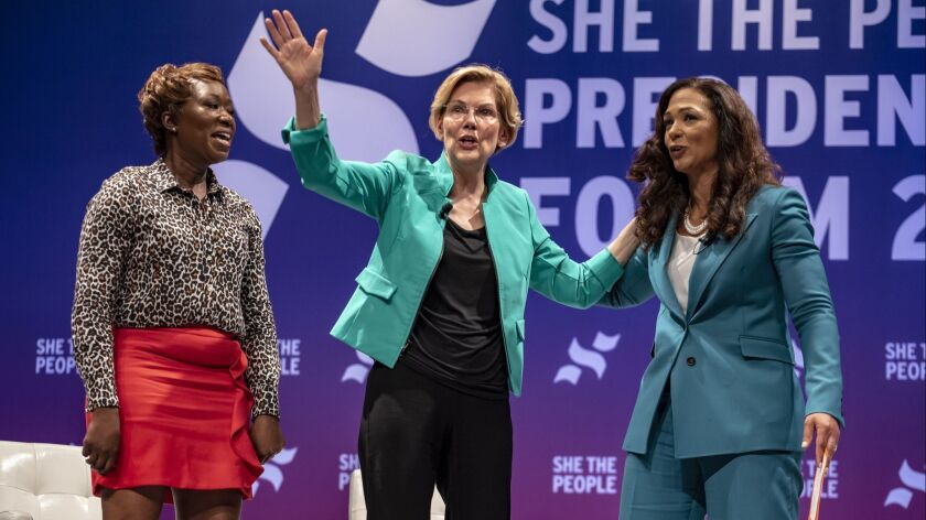 """Democratic Presidential Candidates Attend """"She The People"""" Forum In Houston"""