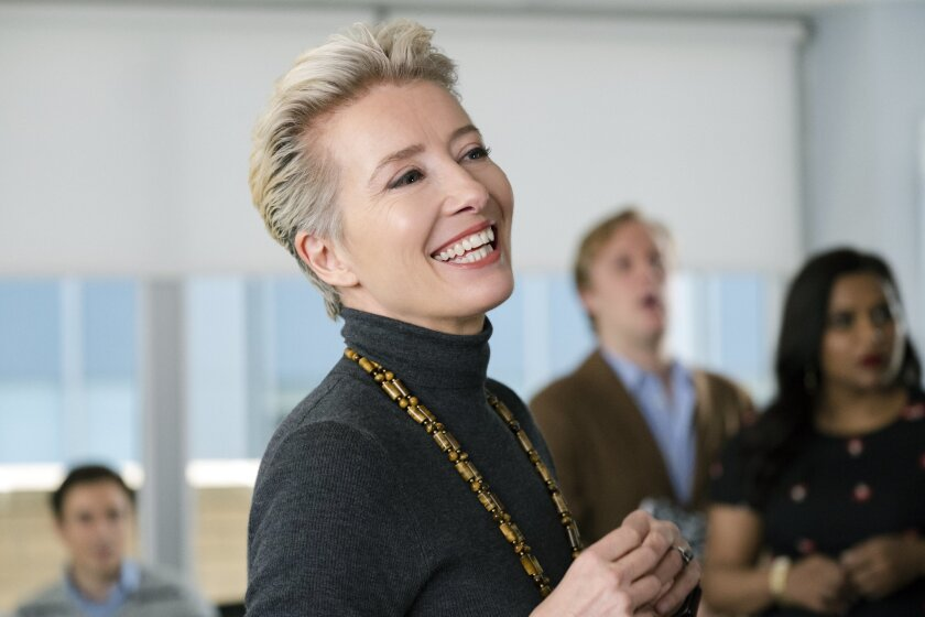 """Emma Thompson appears in the movie, """"Late Night, """" by Nisha Ganatra, an official selection of the Pr"""
