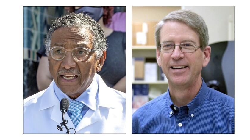 El doctor Rodney Hood y el doctor Mark Sawyer, miembros del panel de seguridad para la vacuna de COVID-19