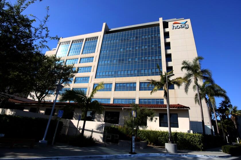 The exterior of Hoag Memorial Hospital in Newport Beach