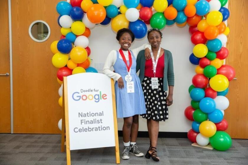 Homenaje de una joven afrolatina a su madre es el logo de Google por un día