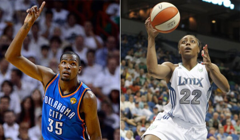 Nba S Kevin Durant Wnba S Monica Wright Engaged To Be Married Los Angeles Times