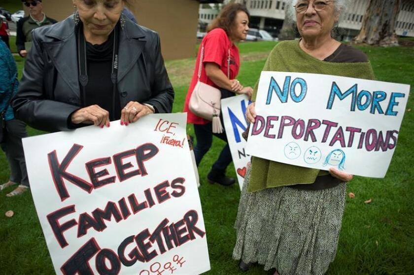 La Unión para las Libertades Civiles en América (ACLU), uno de los principales grupos del país en la defensa de los derechos civiles, interpuso hoy una demanda contra el Gobierno de Donald Trump, al que acusa de separar sistemáticamente a las familias que piden asilo. EFE/ARCHIVO