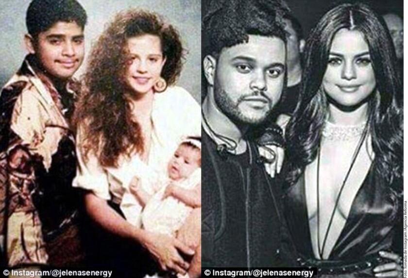 Los padres de Selena Gómez (izq.) y la cantante junto a su novio actual.