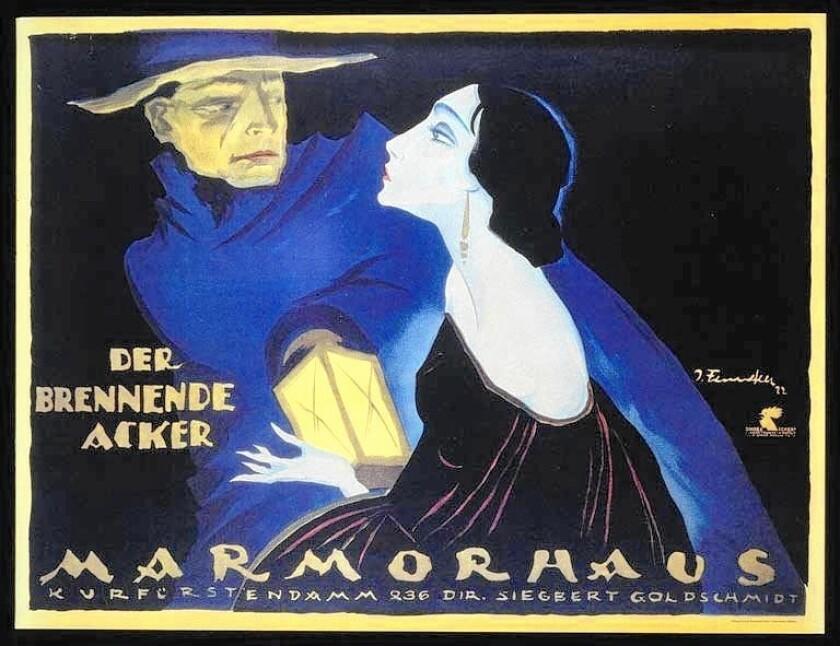 "A reissue of Josef Fenneker's original poster for ""The Burning Soil,"" directed by Friedrich Wilhelm Murnau."