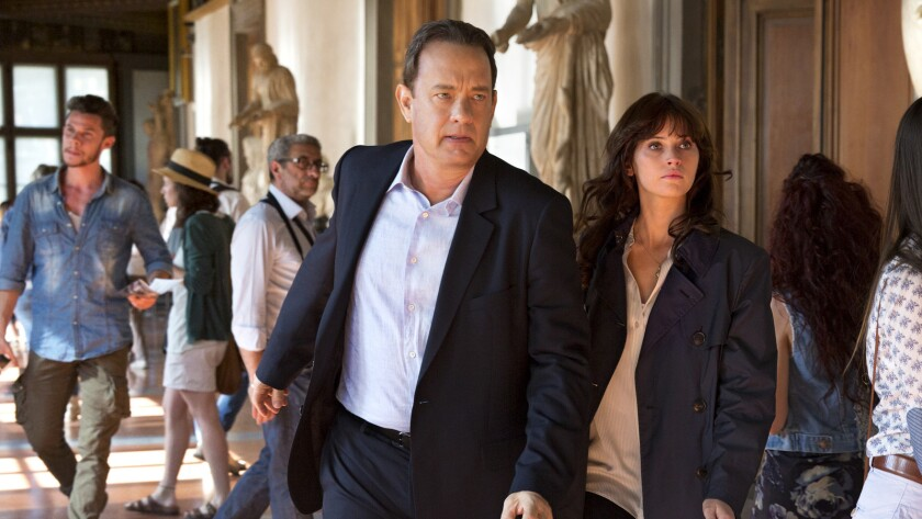 """Tom Hanks and Felicity Jones search for a deadly virus in """"Inferno."""""""
