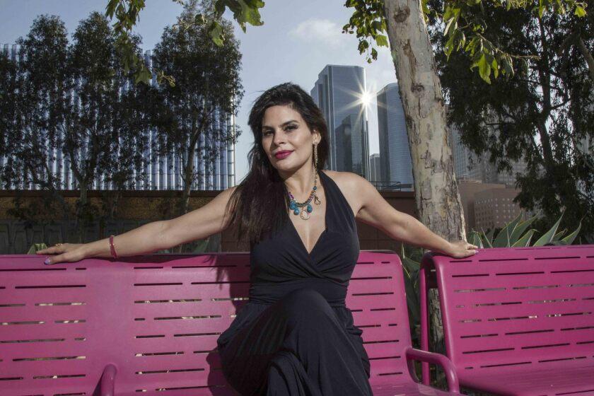 María Raquenel durante su visita a las oficinas de Los Angeles Times, donde habló con HOY de sus planes inmediatos y del inevitable caso Trevi-Andrade.