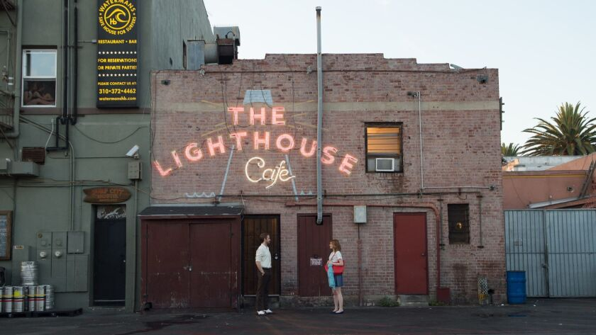 """The rear of the Lighthouse Cafe, as seen in the 2016 film """"La La Land."""""""
