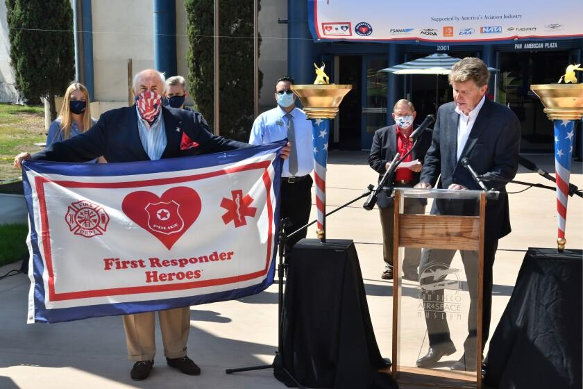 Spirit of Liberty Chairman Richard Rovsek (at left)